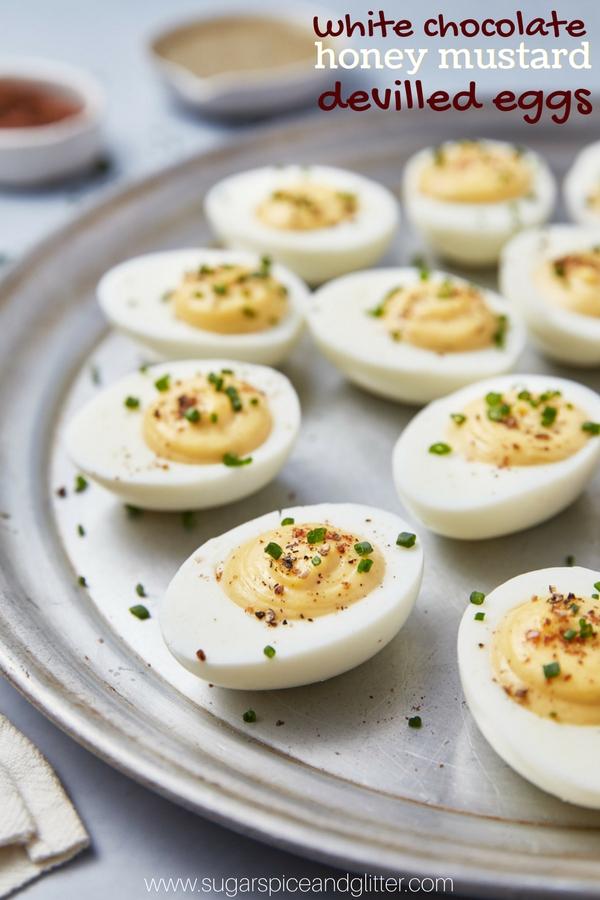 White Chocolate Honey Mustard Devilled Eggs