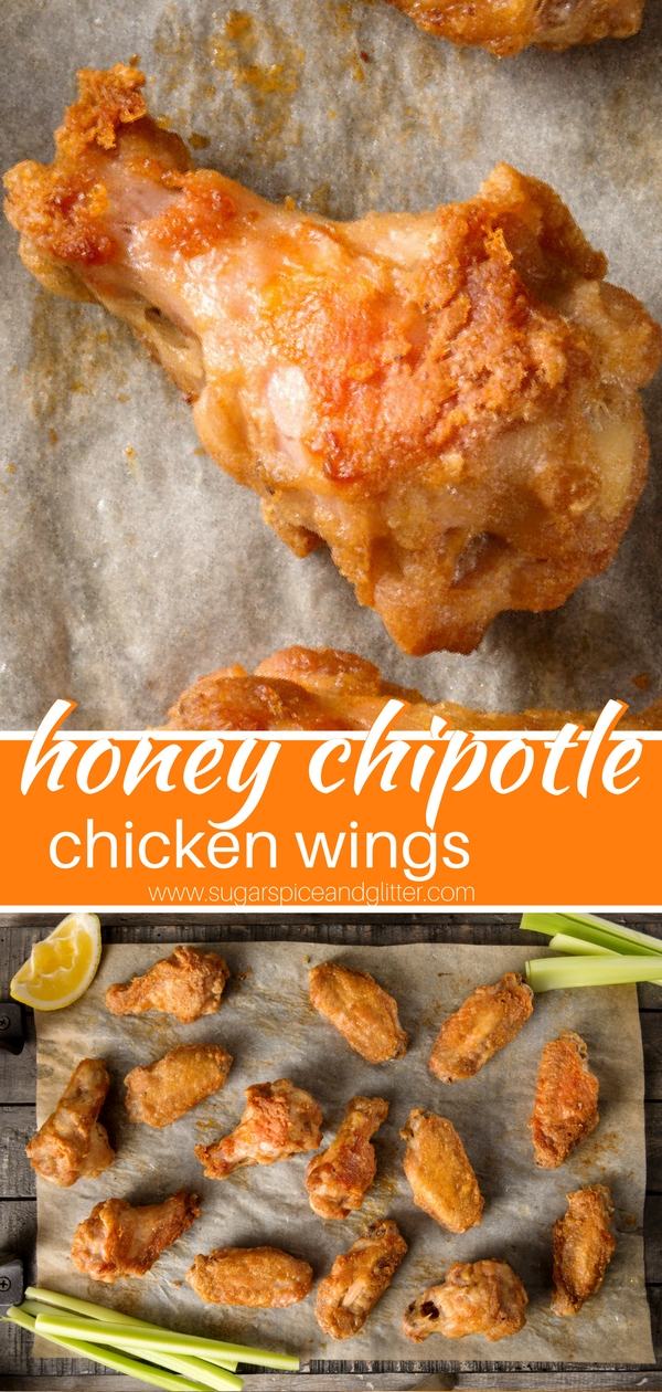 A sweet, spicy and crunchy grilled chicken wing recipe with homemade honey chipotle sauce - you can also prep in the oven or on the BBQ