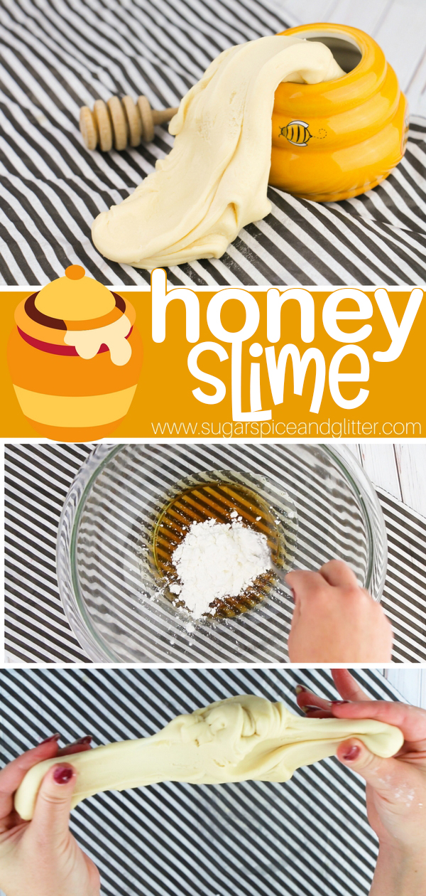 You only need 3 ingredients to make this edible honey slime - perfect for a Disney Movie night or Teddy Bear Picnic!