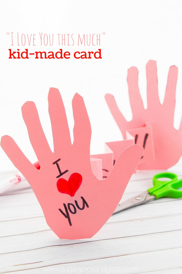 A handmade love card kids can make for Mother's Day, Valentine's Day, Father's Day or even a special birthday