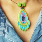 DIY Quilled Paper Peacock Necklace