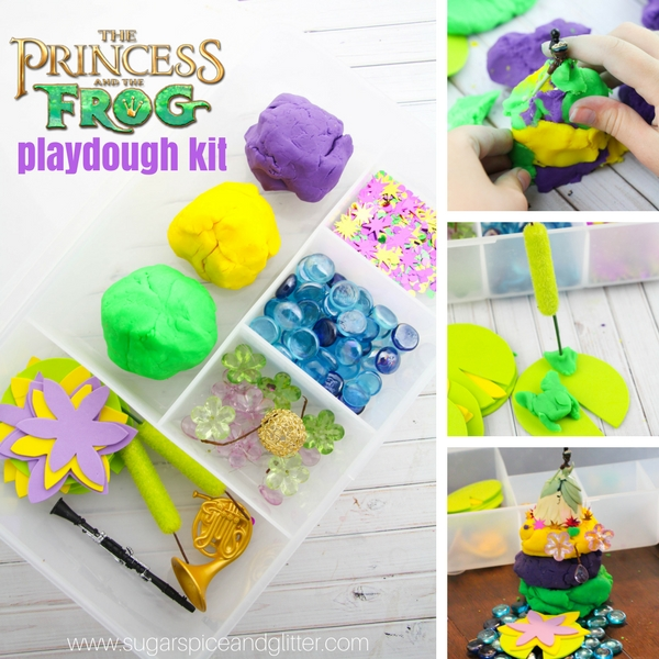 How to make a Disney Princess and the Frog play dough kit for kids