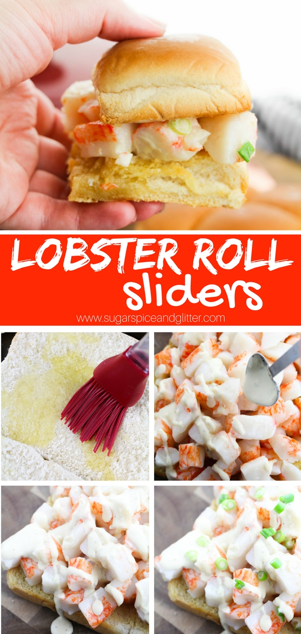 Lobster Roll Sliders are the ultimate summer appetizer recipe, a delicious buttered lobster roll with fresh dijon-mayo sauce. A seafood recipe everyone will love!
