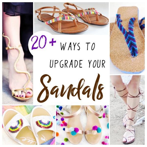 58d717bf1c3 DIY Sandal Upgrades ⋆ Sugar