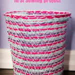 Embroidered Trash Can Early Sewing Project