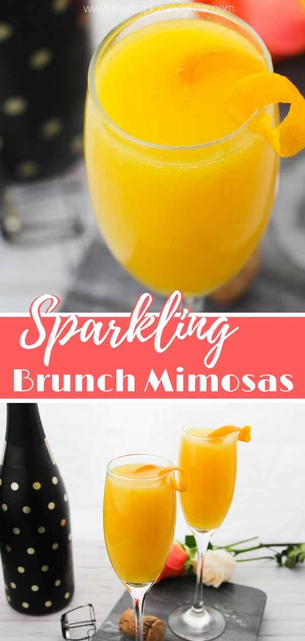 Everything you need to know to make the best Sparkling Brunch Mimosas - a classic brunch cocktail recipe that goes with everything