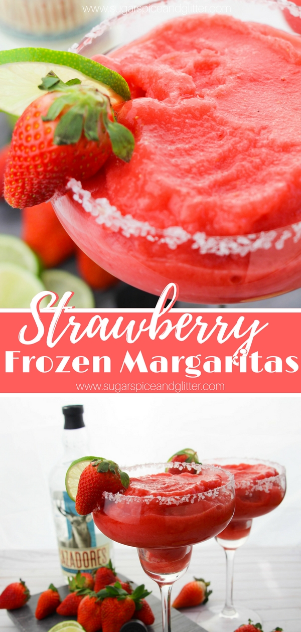 Head to Margaritaville with these delicious Strawberry Frozen Margaritas - the perfect summer cocktail and the original cocktail slushie