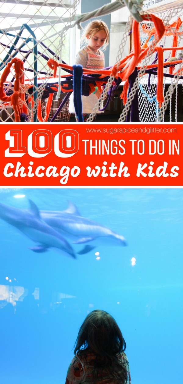 100 Things to do in Chicago with kids - so many wonderful, hands-on activities, foodie treats, and off-the-beaten path gems to include in your family's Chicago vacation