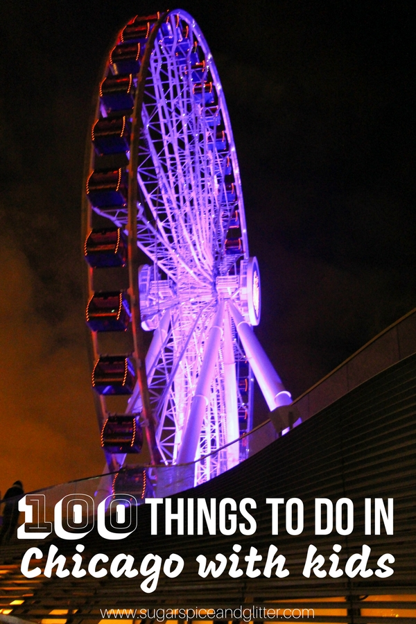 An amazing list of 100 things to do in Chicago with kids - everything from must-eat Chicago snacks, must-see Chicago attractions - lots of off-the-beaten path Chicago treasures can be found here.