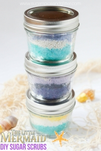 DIY Little Mermaid Sugar Scrubs gift