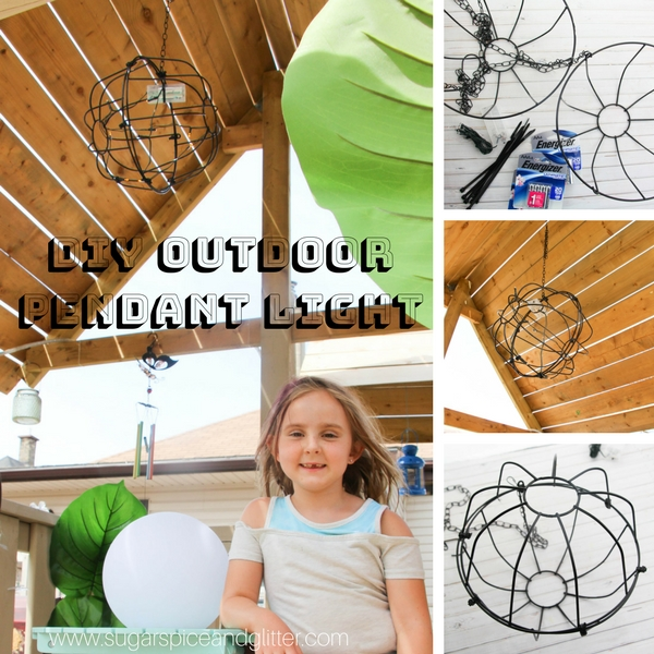 How to makde a DIY Outdoor light using everyday garden materials and fairy lights