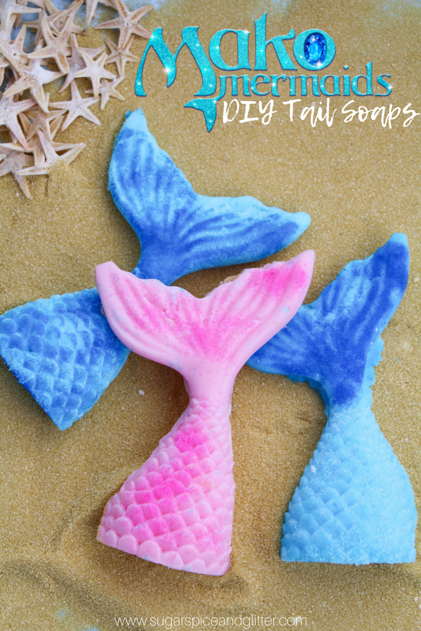 DIY Mermaid Tail Soaps