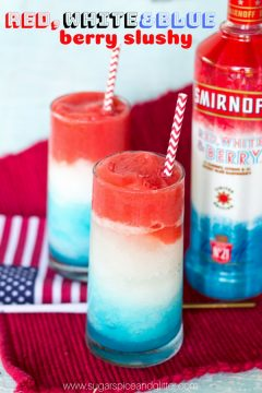 Red White and Blue Slushy Cocktail