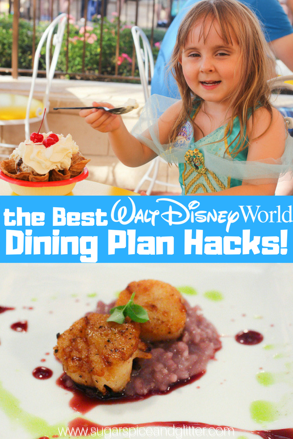 The best Walt Disney World Dining Plan Hacks - everything you need to know from how to cancel a reservation without penalty to how to make the most of those snack credits, and more!