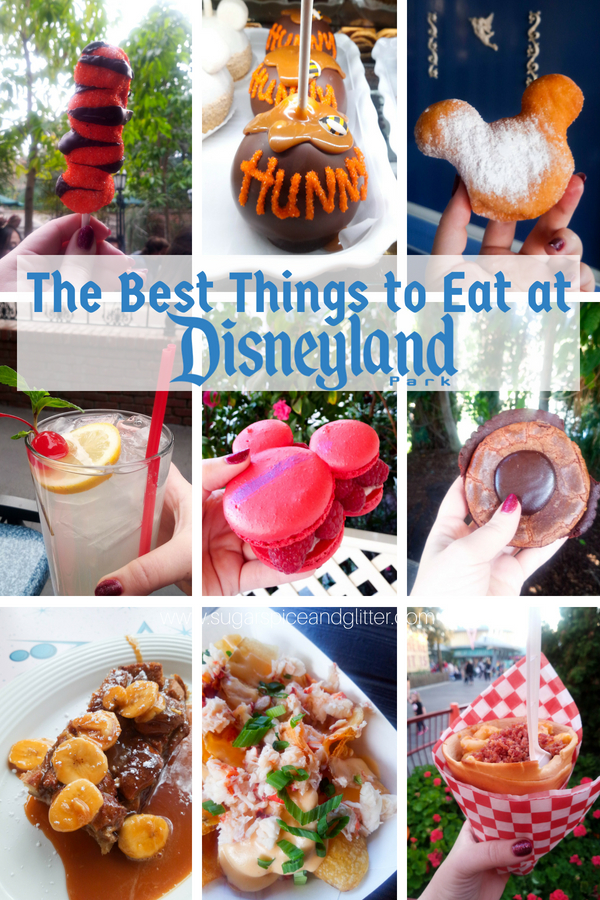 The Best Disneyland Food and Drink - including a printable check list (or bucket list) including which Disneyland restaurants to find them at