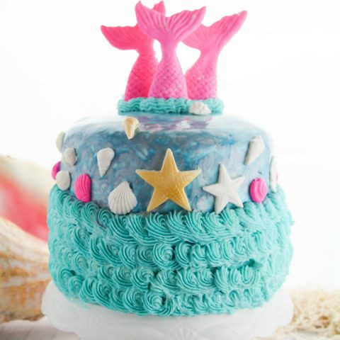 Outstanding How To Make A Mermaid Cake With Fondant With Video Sugar Birthday Cards Printable Riciscafe Filternl
