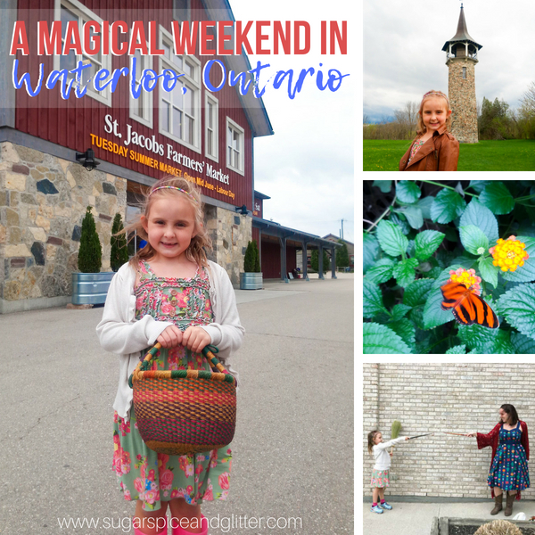 How to spend a Magical Weekend in Waterloo, Ontario - butterfly conservatories, Rapunzel's tower, wands and brooms, unicorn horns, and more!