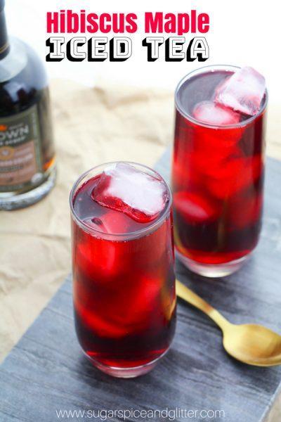 Maple Hibiscus Iced Tea