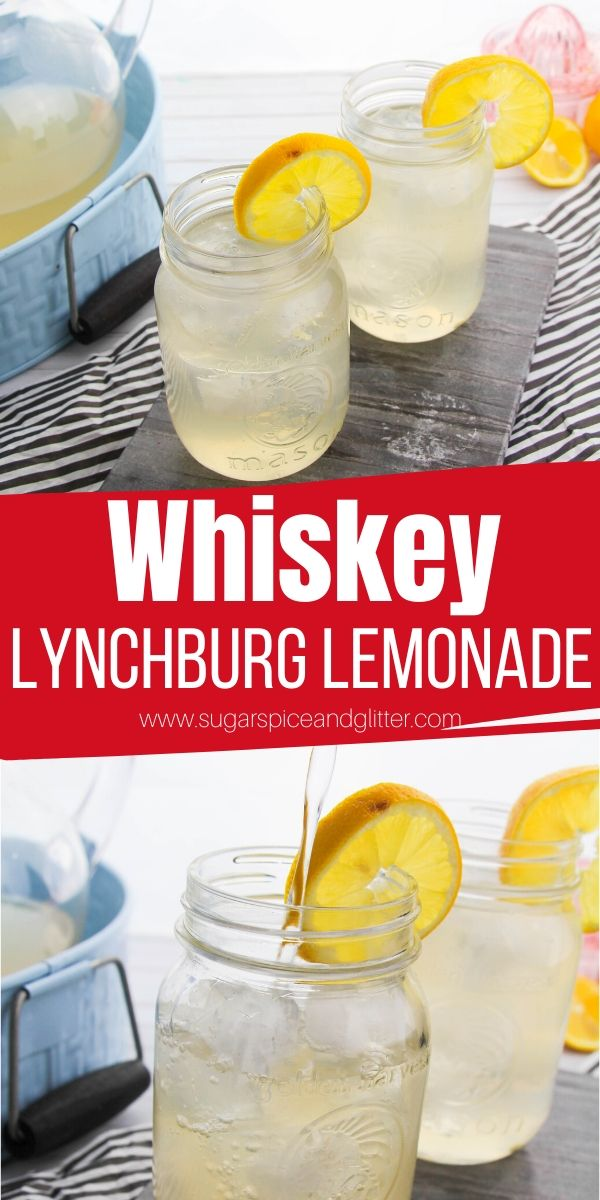 This Lynchburg Lemonade is a refreshing lemonade cocktail made with Tennessee Whiskey. It's crisp, refreshing and has a smoky sweetness that true whiskey lovers will enjoy - perfect for hot summer nights