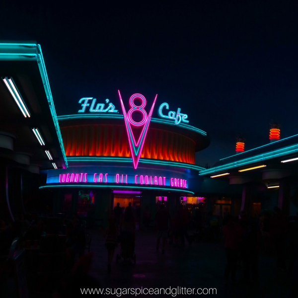 Gorgeous views at Disneyland Cars Land. We had a stress-free Disney vacation on a budget and I'm sharing our best tips with you