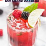 Berry Basil Lemonade Cocktail