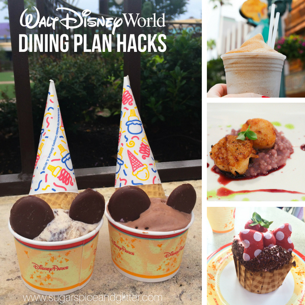 Everything you need to know to make the most of your Disney Dining Plan - including where not to waste your dining credits and how to get three meals for one quick service credit!
