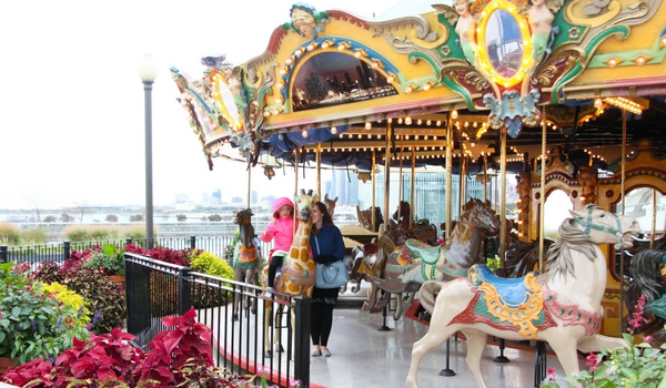 Riding the Carousel at Navy Pier