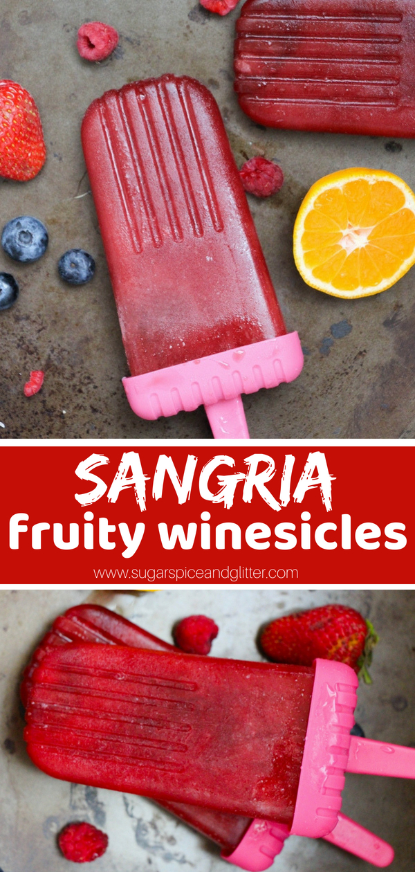 A delicious frozen cocktail recipe for fruity red winesicles! This fun twist on Sangria is a delicious summer cocktail