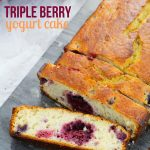 Triple Berry Yogurt Cake