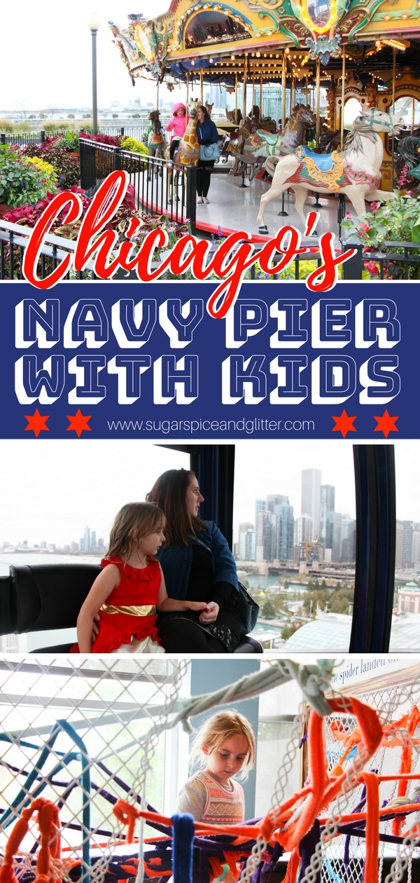Everything you need to know about visiting Chicago's Navy Pier with kids - what to do, where to eat and where to stay!