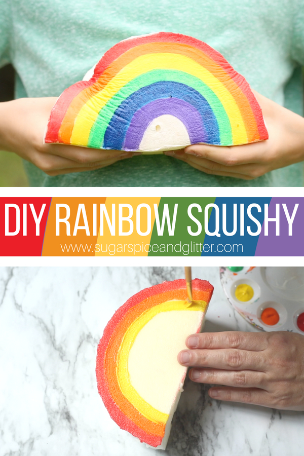 How to make a DIY Squishy toy with just a few common materials - this RAINBOW craft for kids is a fun sensory toy kids will love
