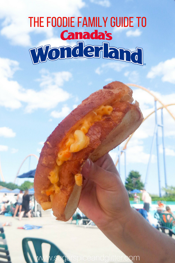 What to eat at Canada's Wonderland, everything from the famous funnel cakes to new offerings like their Mac and Cheese Grilled Cheese and Funnel Cake Frappuccino