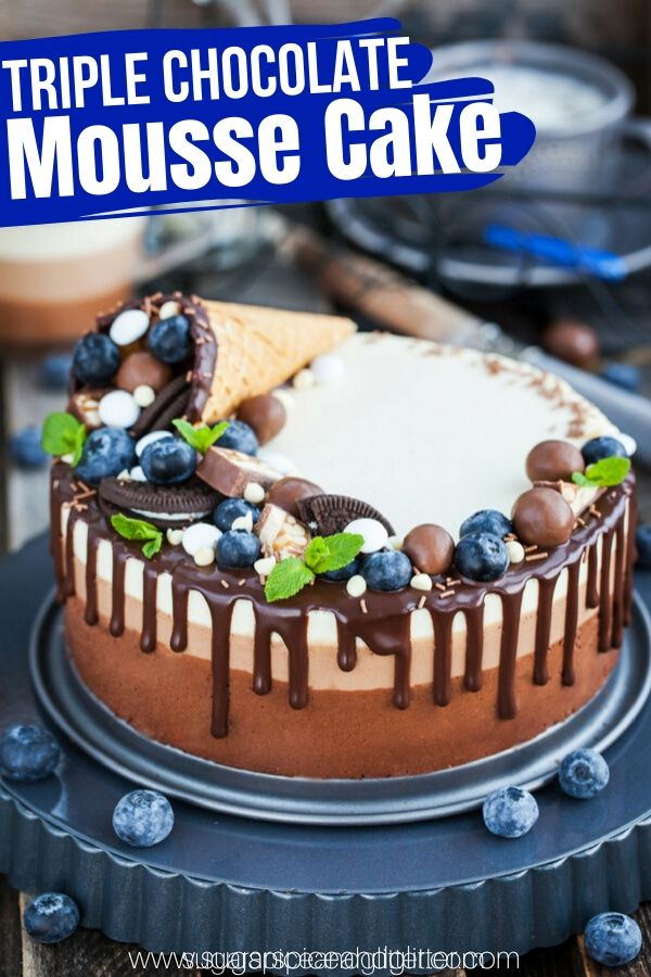 A triple chocolate mousse cake - silky, rich and perfect for people who don't love cake. A gluten-free chocolate cake perfect for special occasions