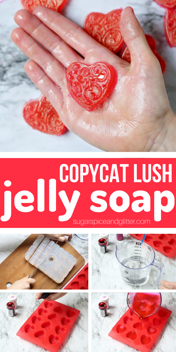 Squishy, Jiggly Jelly Soap is a fun way to encourage kids to get clean and bring some sensory play to bath time