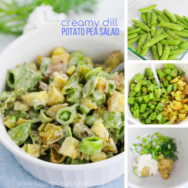How to make dill potato pea salad