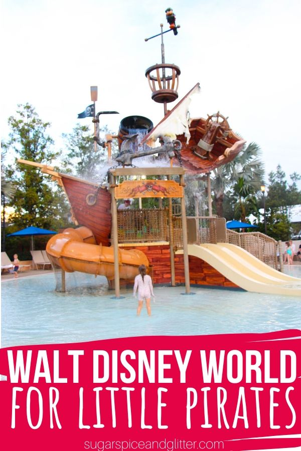 Disney World isn't just for princesses - it's perfect for pirates, too! If your kid loves pirates, we've got everything you need to plan a magical Disney vacation for them: Pirate League make-overs, every ride featuring Pirate-themes, Pirate dessert cruises and those famous Pirate hotel rooms