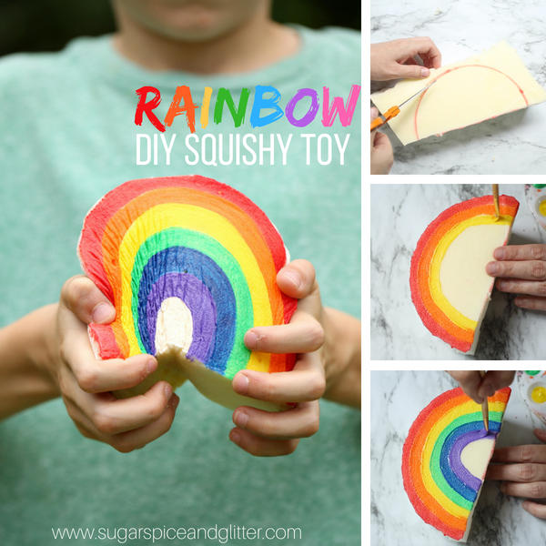 Watch Our Quick On How To Make Your Own Diy Rainbow Squishy Toy Out Of Memory Foam And Then Dont Forget To Scroll Down To Grab Our Free Printable