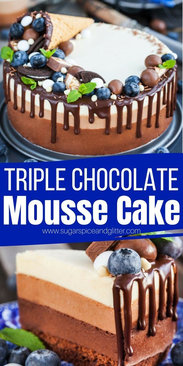 A gluten-free Chocolate Mousse cake fit for a party! This silky and rich chocolate cake is perfect for people who aren't huge fans of regular cake or prefer something lighter