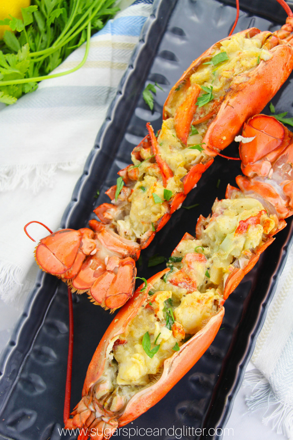 An easy stuffed lobster recipe that is deliciously creamy, indulgent and rich