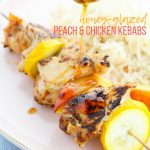 Honey-Glazed Peach and Chicken Kebabs