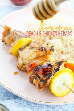 Honey-Glazed Peach and Chicken Kebabs