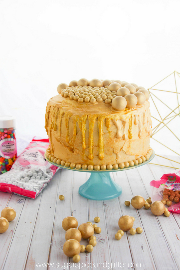 How to make a Golden Drip Cake