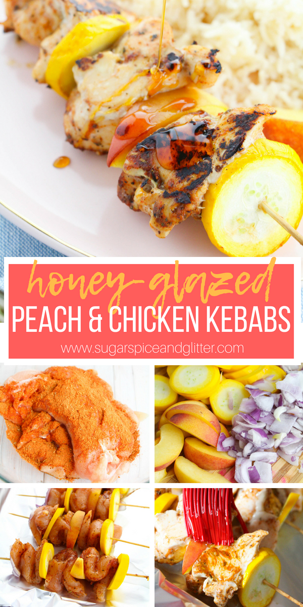 Easy honey-glazed chicken skewers, the perfect sweet chicken recipe and versatile enough for the BBQ or the oven