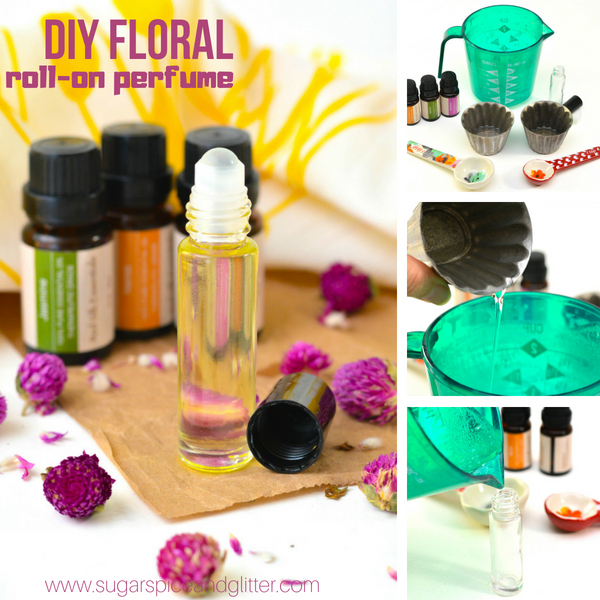 DIY Floral Roll-on Perfume ⋆ Sugar, Spice and Glitter