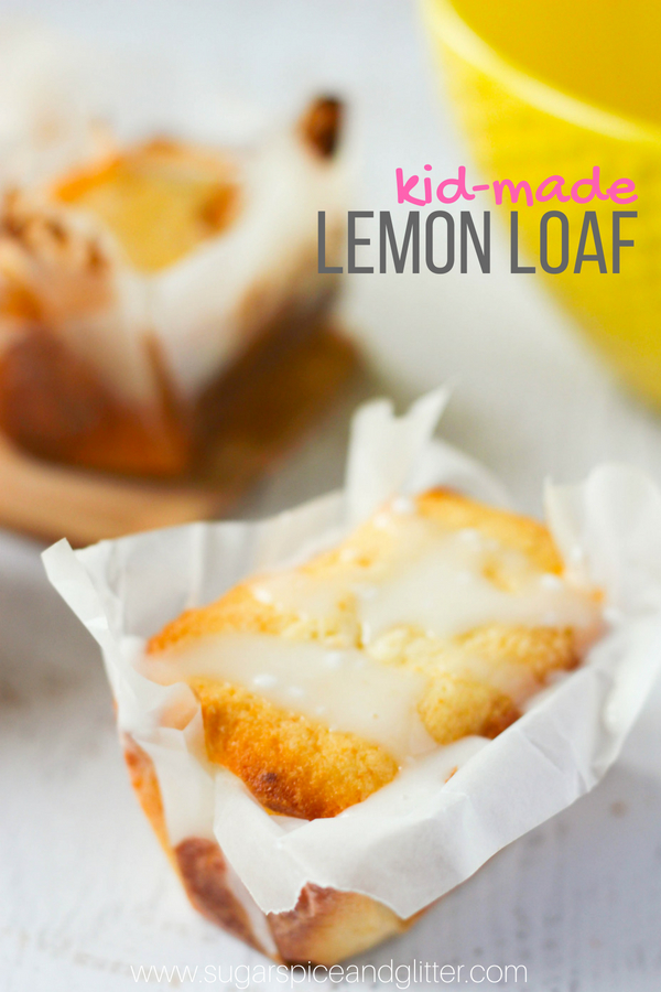 A delicious and easy recipe for lemon loaf that kids can make! This lemon loaf is bursting with zesty lemon flavor