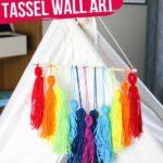 Rainbow Tassel Wall Art (with Video)
