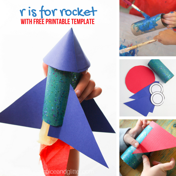 How to make a rocket craft using our free printable template