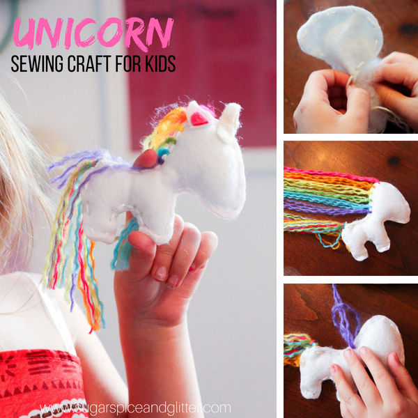 An easy sewing craft for kids, this DIY Unicorn Project is a simple stuffie craft for kids and makes the perfect homemade gift for a unicorn lover