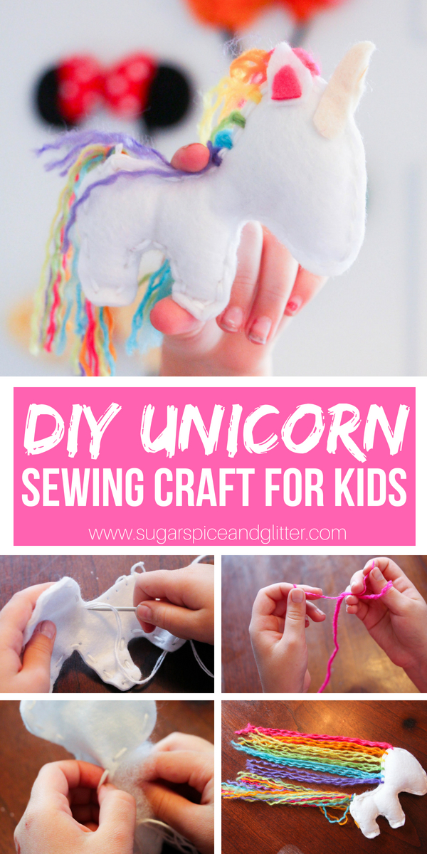 DIY Unicorn Sewing Craft for Kids ⋆ Sugar, Spice and Glitter