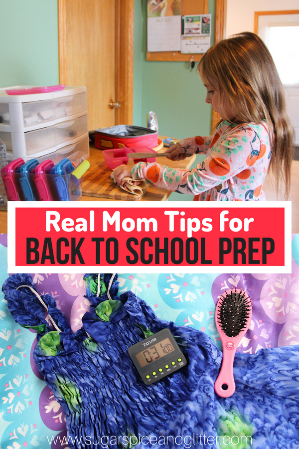 "Real Mom-to-Mom tips on how to prepare yourself, your house and your kids for back to school, from lunch prep stations, morning ""drills"", and a well-stocked emergency cabinet."